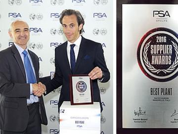 Dayco merecedor del premio de PSA a la mejor planta de fabricación